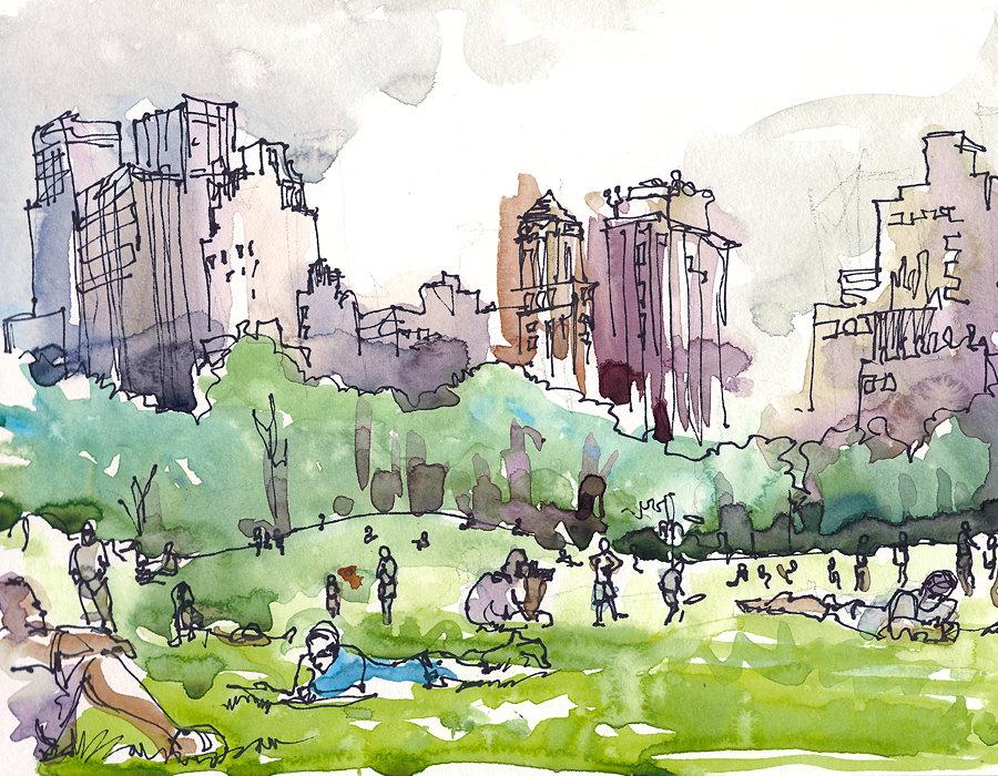 Central park prints.