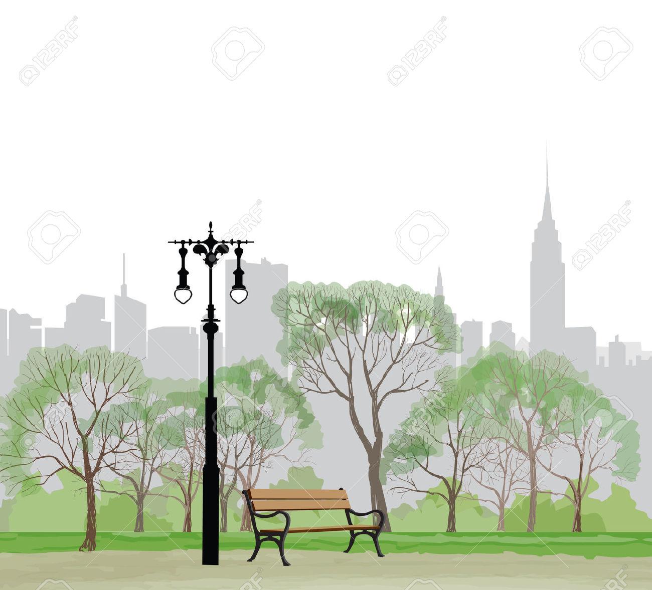 Central park clipart.