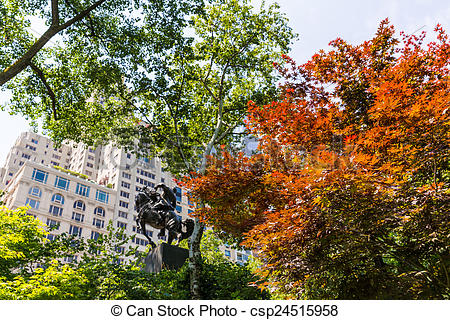 Stock Images of Central Park Manhattan New York US.