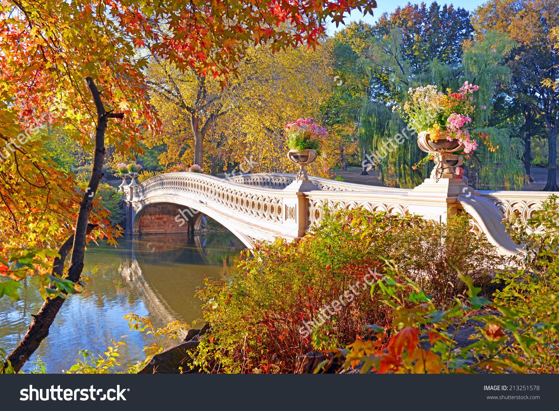 Autumn Colors Fall Foliage Central Park Stock Photo 213251578.