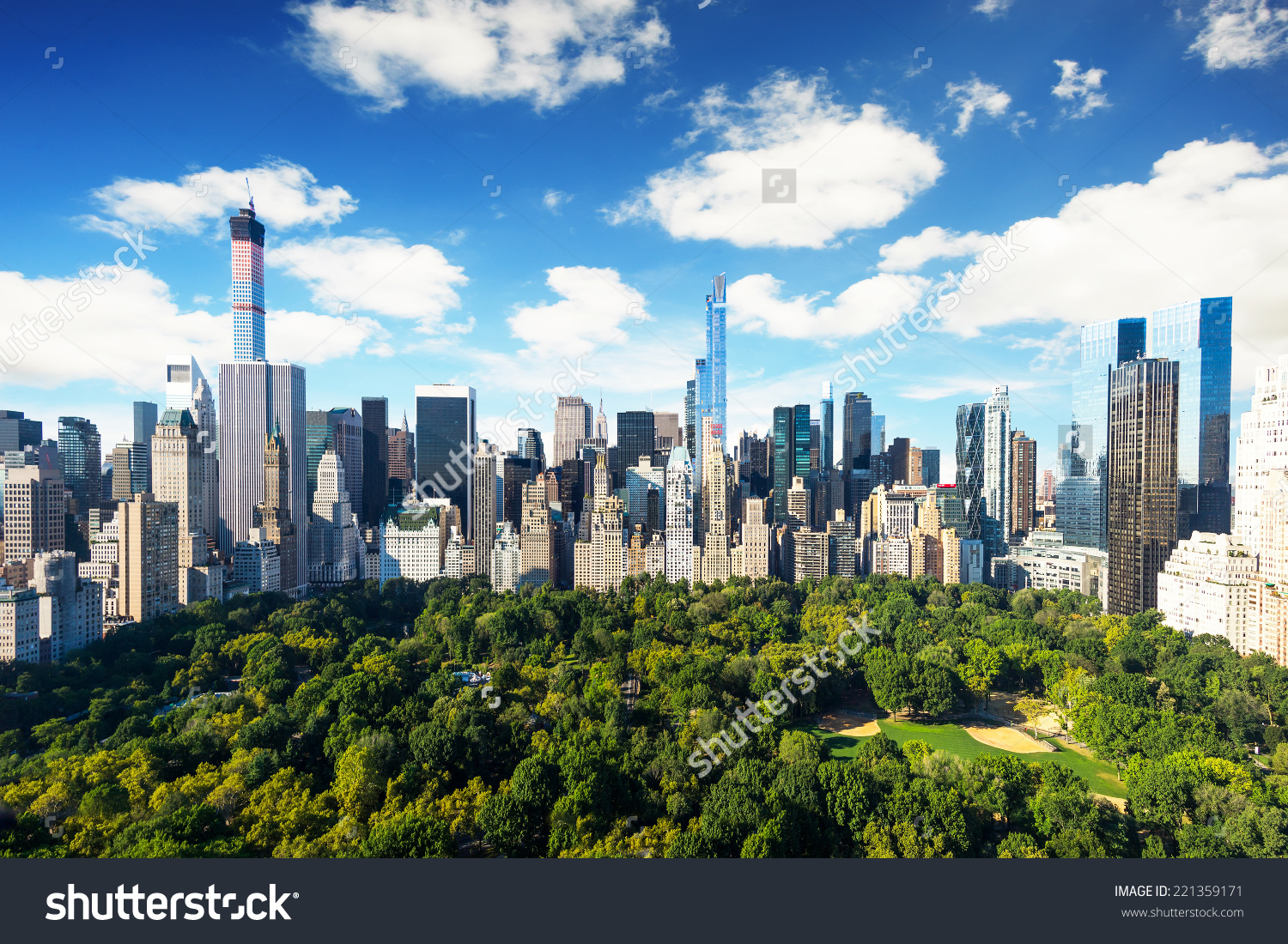 New York City Central Park View Stock Photo 221359171.