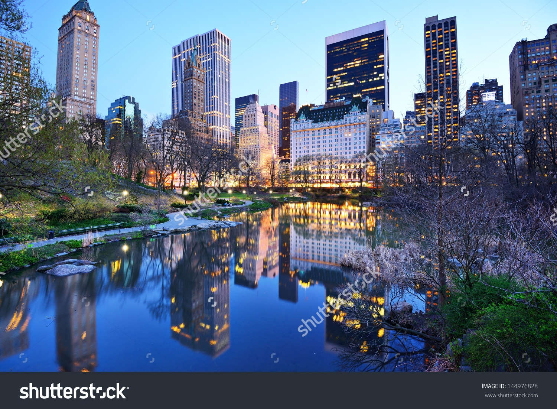 Central Park South Skyline Central Park Stock Photo 144976828.