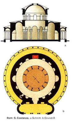 Plan and Reconstruction Drawing, Old St. Peter's Basilica.