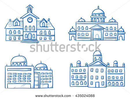 Building Line Drawing Stock Images, Royalty.