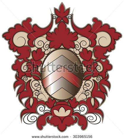 Heraldic Coat Arms Shield Vector Format Stock Vector 71962876.