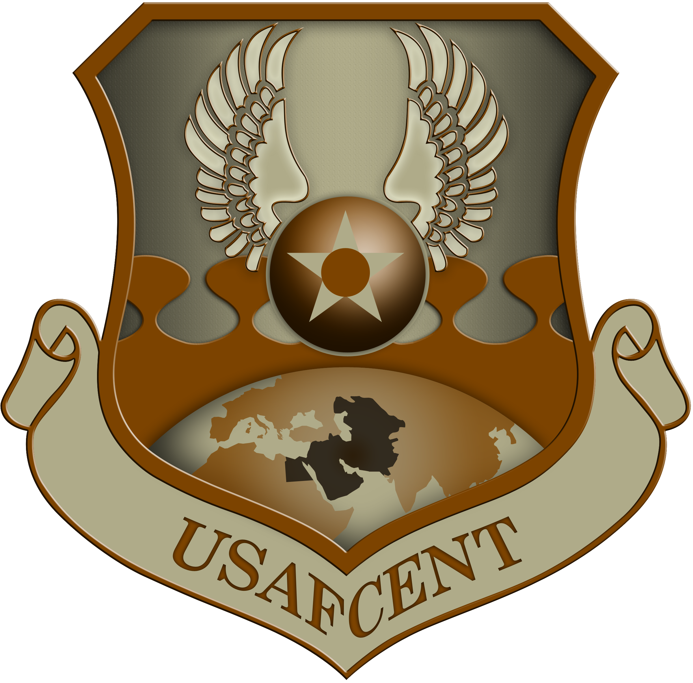 Shield USAFCENT U.S. Air Force Central Command by scrollmedia on.