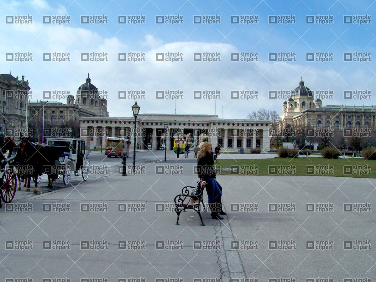 Vienna central square Vector Image #446.