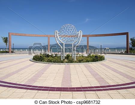 Stock Photo of Central square in Nha Trang.