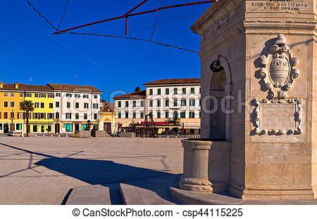 Stock Photo of Central square in Palmanova landmarks view, Friuli.