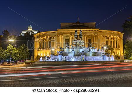 Stock Photographs of Kutaisi Central square, Georgia.