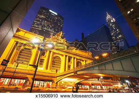 Stock Photography of USA, New York, Grand Central station and.