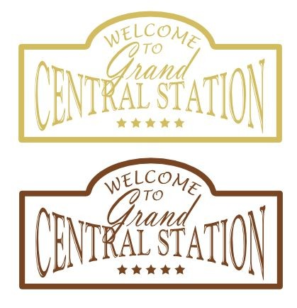 Items similar to Welcome To Grand Central Station Sign Vinyl.
