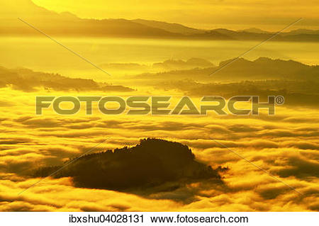 Stock Photography of View from Mount Rigi over the Swiss Plateau.