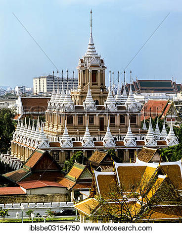 "Stock Photography of ""Loha Prasat, Wat Ratchanaddaram, Bangkok."