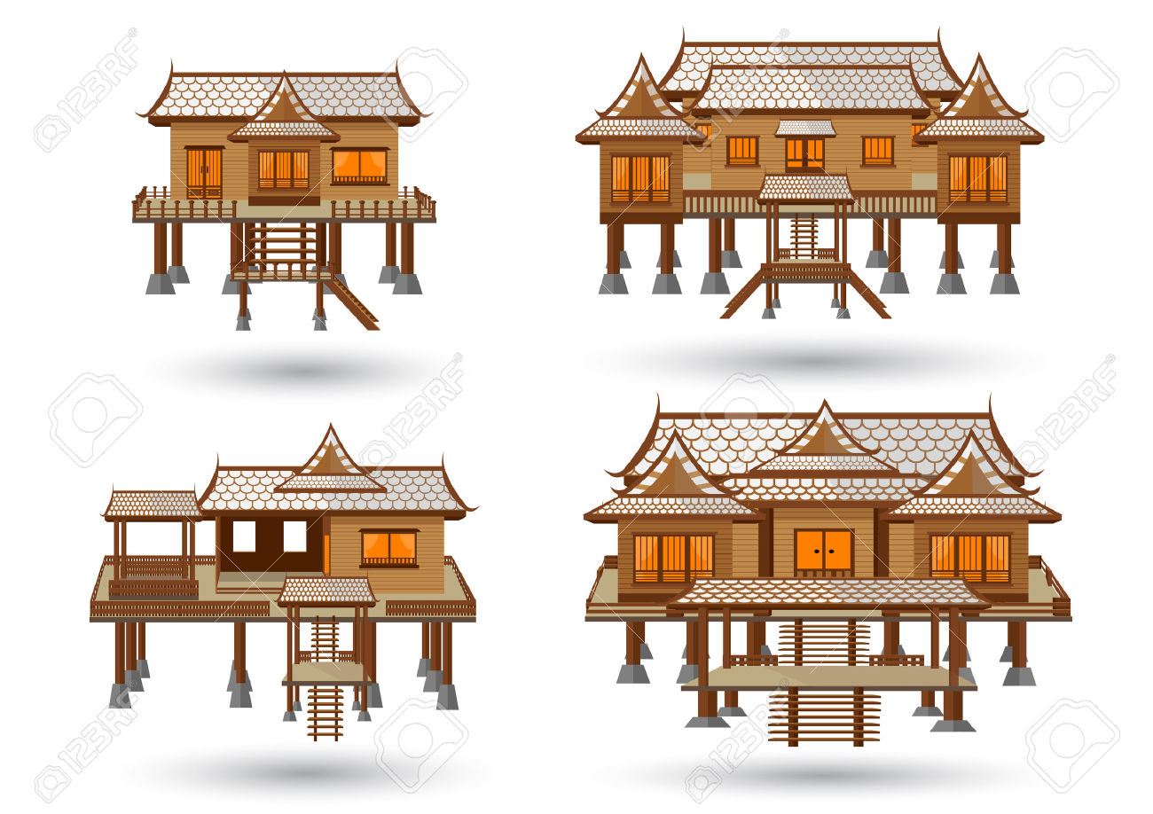 House Of Central Thailand Royalty Free Cliparts, Vectors, And.