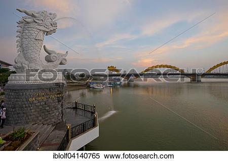 Stock Image of Dragon Bridge, Cß?ºu Rß?ông, over the Han River.