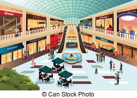 Shopping mall clipart #14