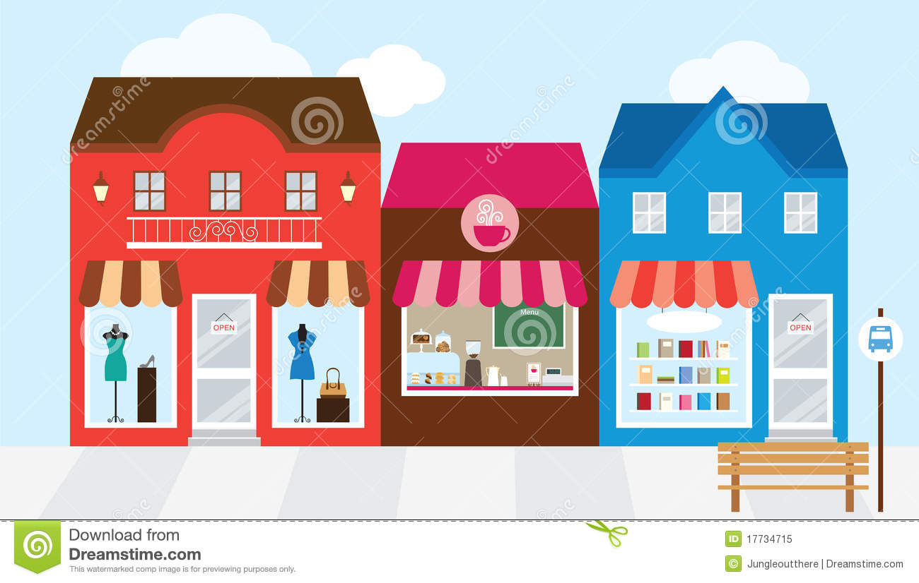 Clip Art Cartoon Mall Clipart.