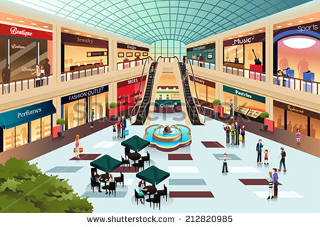 Shopping centre clipart.