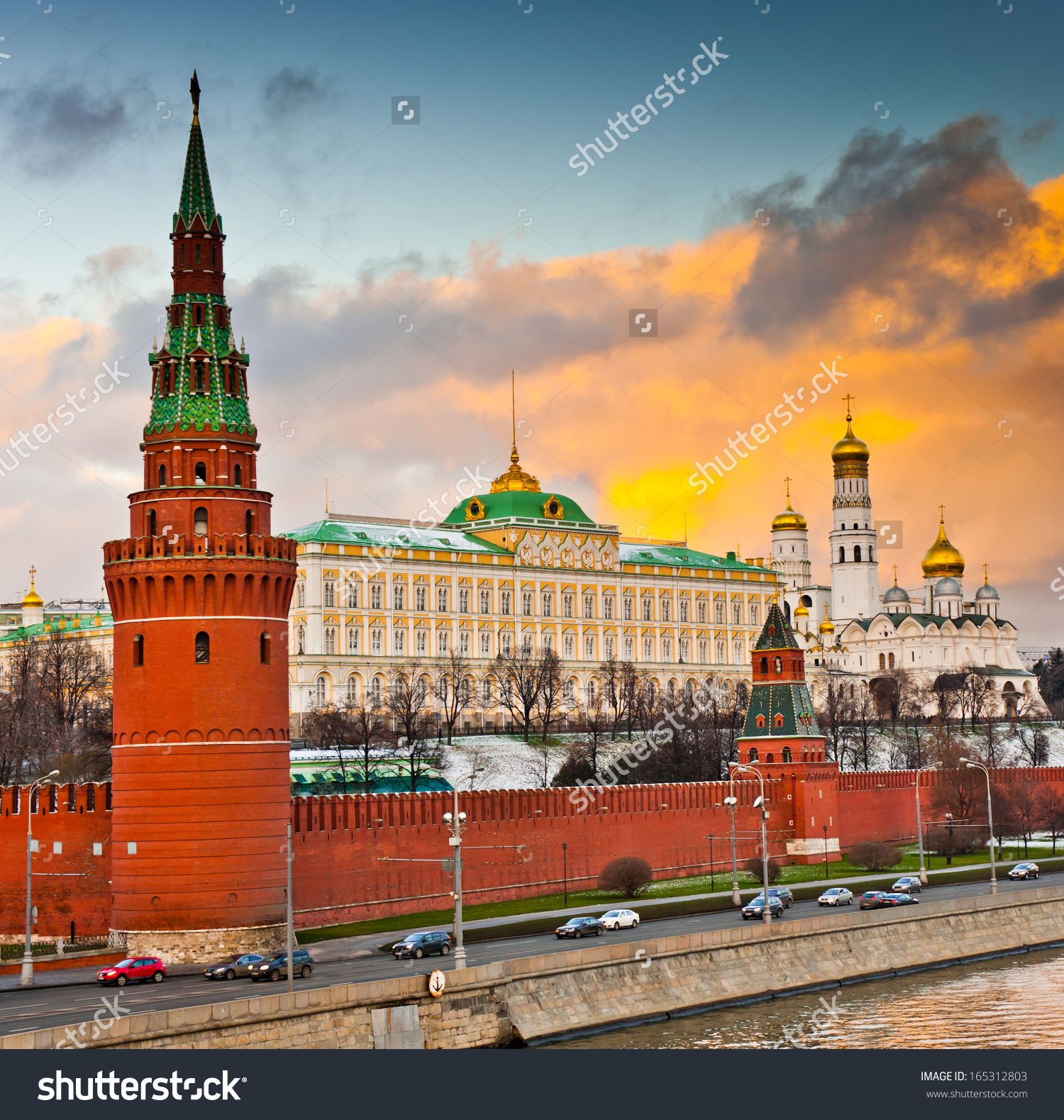 Winter Sunset Moscow Russia The Grand Stock Photo 165312803.