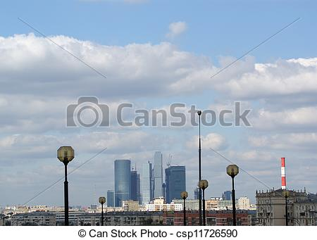 Stock Photographs of General view of the city of Moscow.