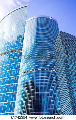 Stock Photo of New skyscrapers business centre in moscow city.