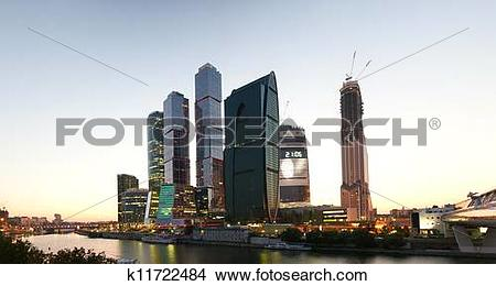 Stock Photo of Panorama of the international business centre at.