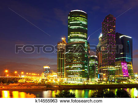 Stock Photo of Moscow business centre k14555963.