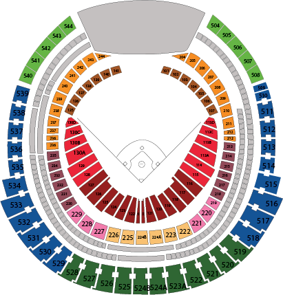 Centre Section Clipart Clipground - Blue jays seating chart