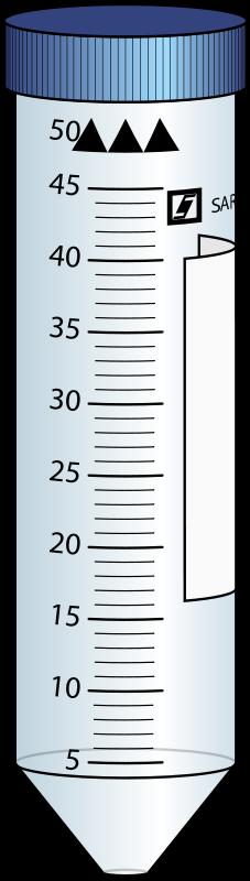 Free Clipart: 50mL centrifuge tube.