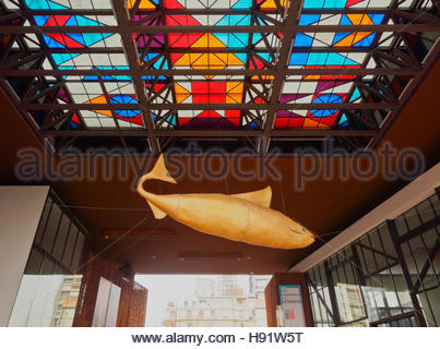 Gabriela Mistral Cultural Center Santiago Chile Stock Photo.