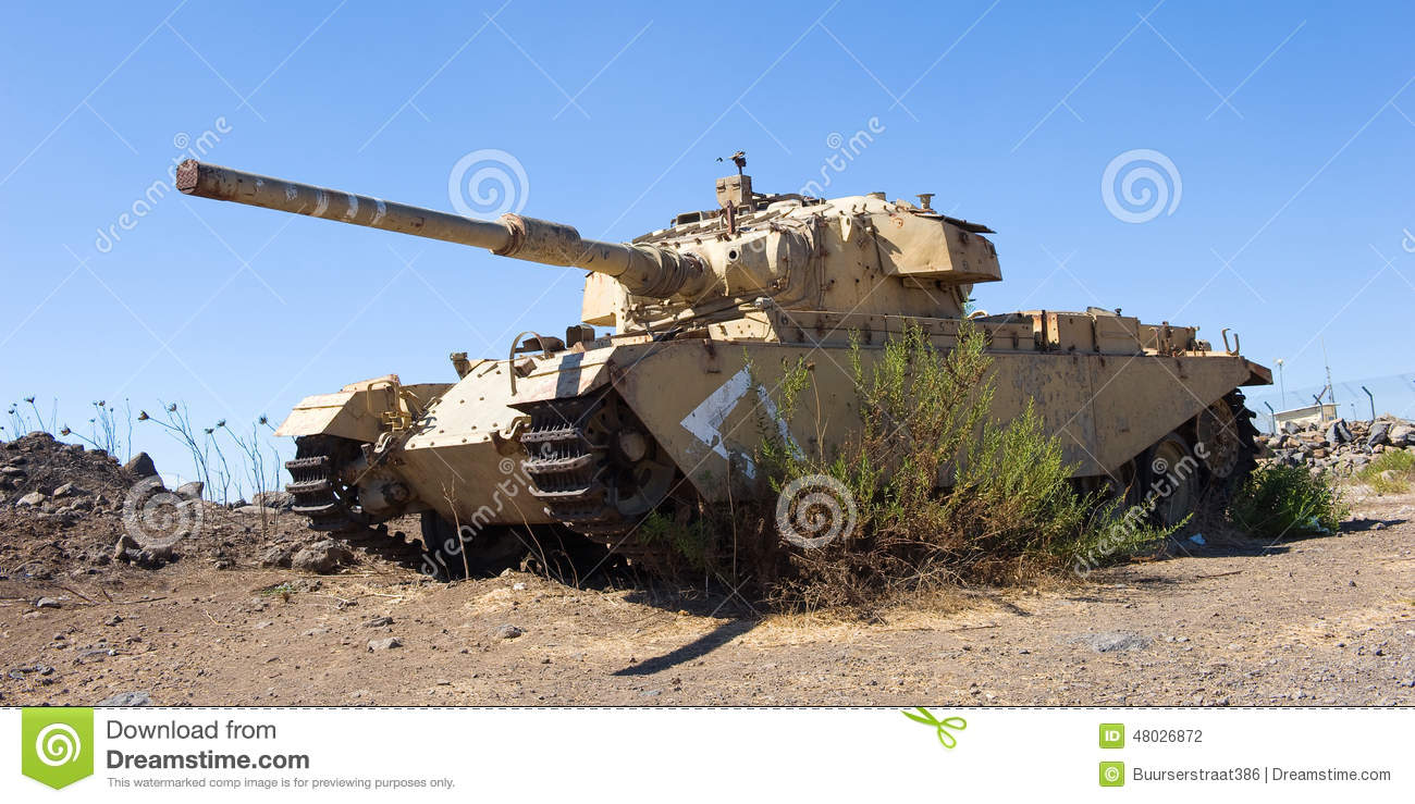 Centurion Tank Stock Photo.