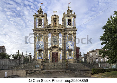 Stock Images of Church of Saint Ildefonso.