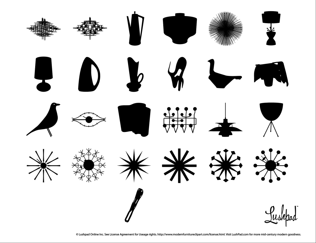 Modern Furniture Clip Art » Mid.