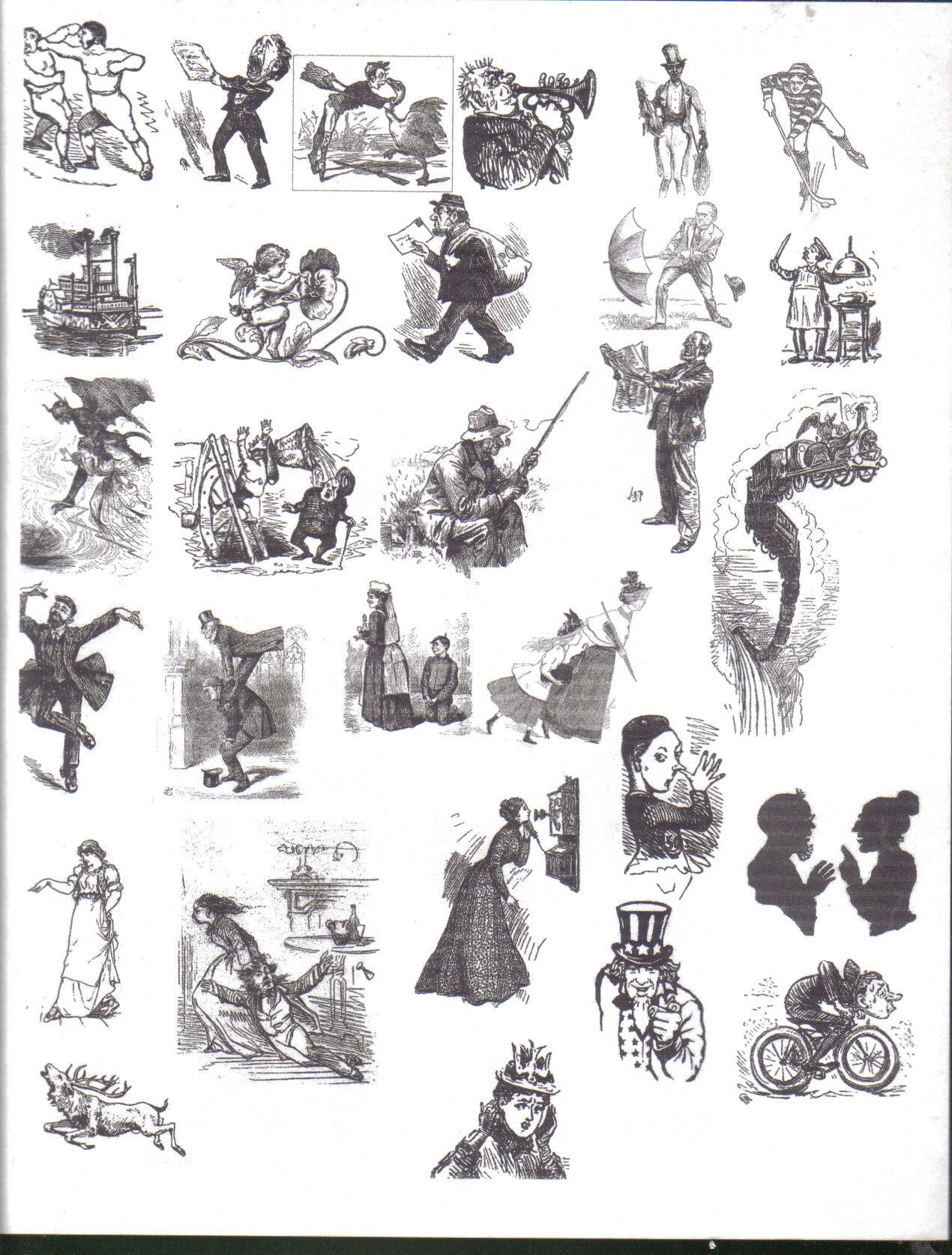 19th century clipart.