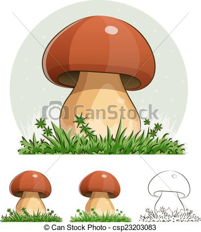 Vector of Cep. Mushroom. Eps10 vector illustration. Isolated on.