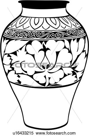 Ceramic decoration clipart #12