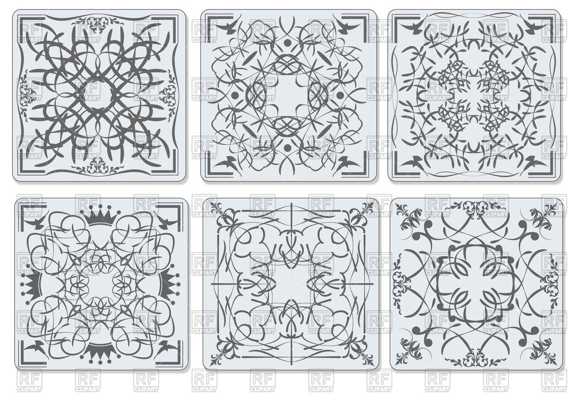 Decorative finishing ceramic tiles.
