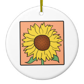 Sunflower Clipart Christmas Tree Decorations & Baubles.