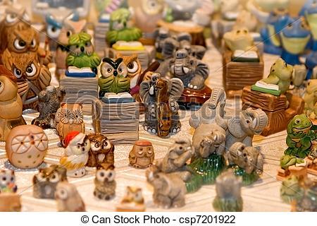Clip Art of Porcelain zoo.