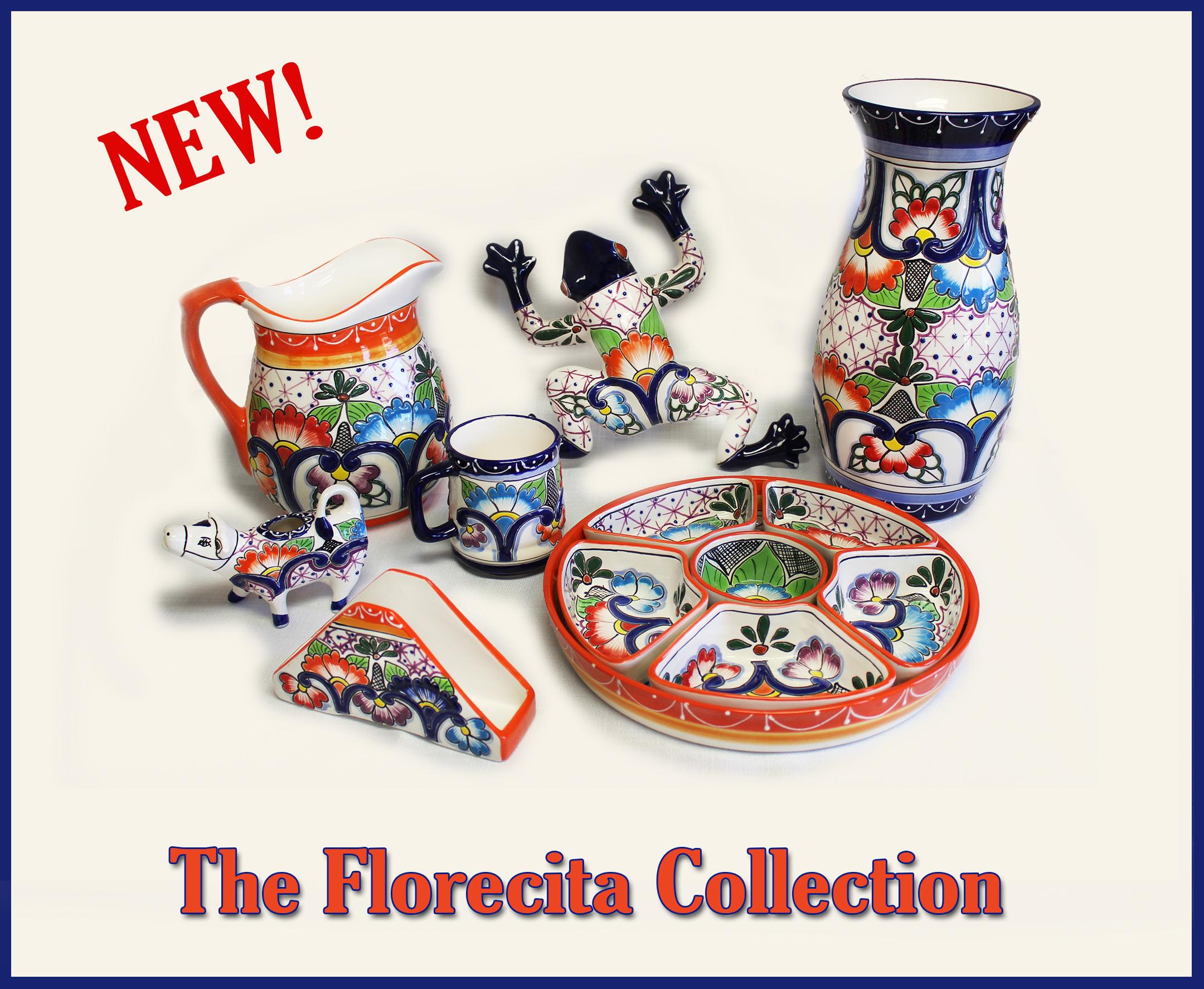 Mexican & Spanish Ceramic Goods, Pots, Aluminum & Brass Frames.