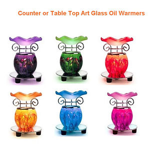 Dimmable Electric Glass Table Top Plug In Fragrance Scented Oil.