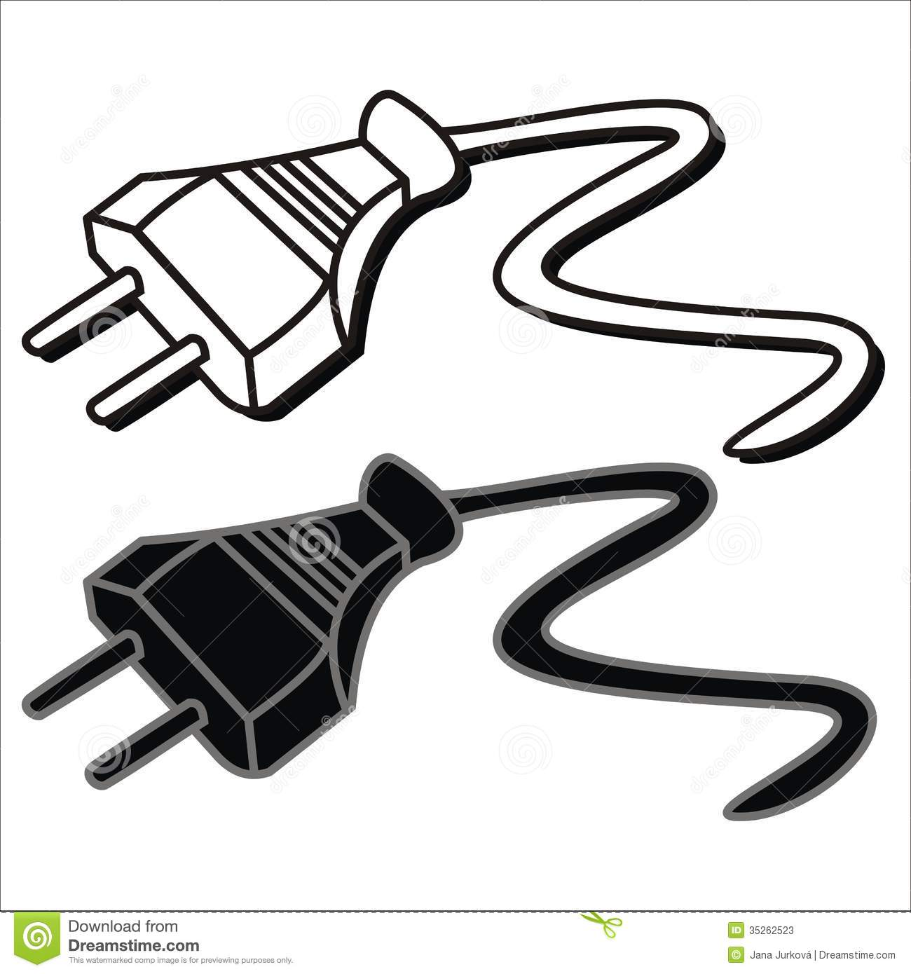 Cable Wire And Clip Art.