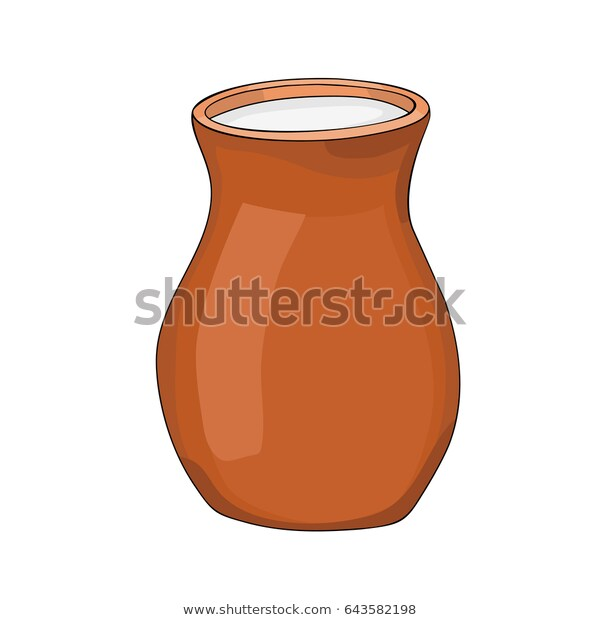 Milk Ceramic Pot Vector Illustration On Stock Vector (Royalty Free.