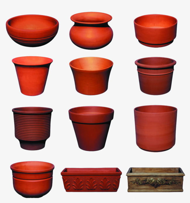 Ceramic Pots Highlights, Flower Pot, Gardening, Ceramics PNG Image.