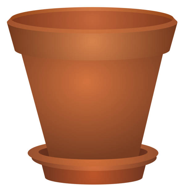 Best Brown Empty Clay Ceramic Pot Illustrations, Royalty.
