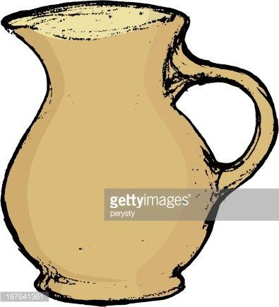 ceramic pot Clipart Image.