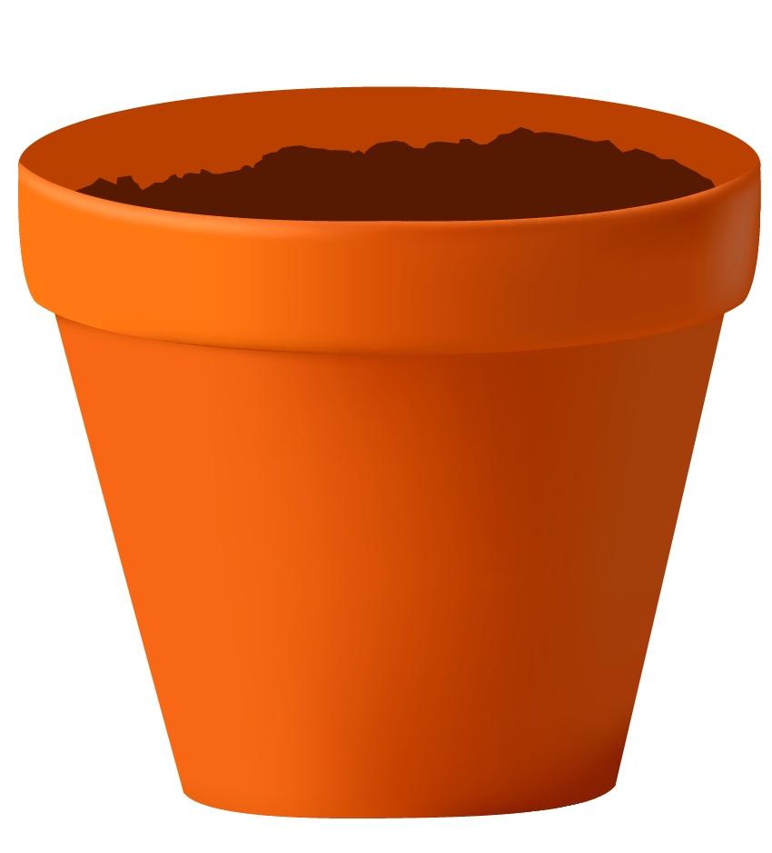 Soil In A Pot Clipart.