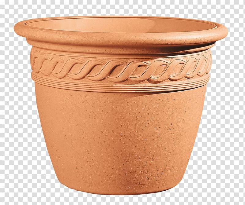 Brown ceramic flower pot illustration, Flowerpot Garden.