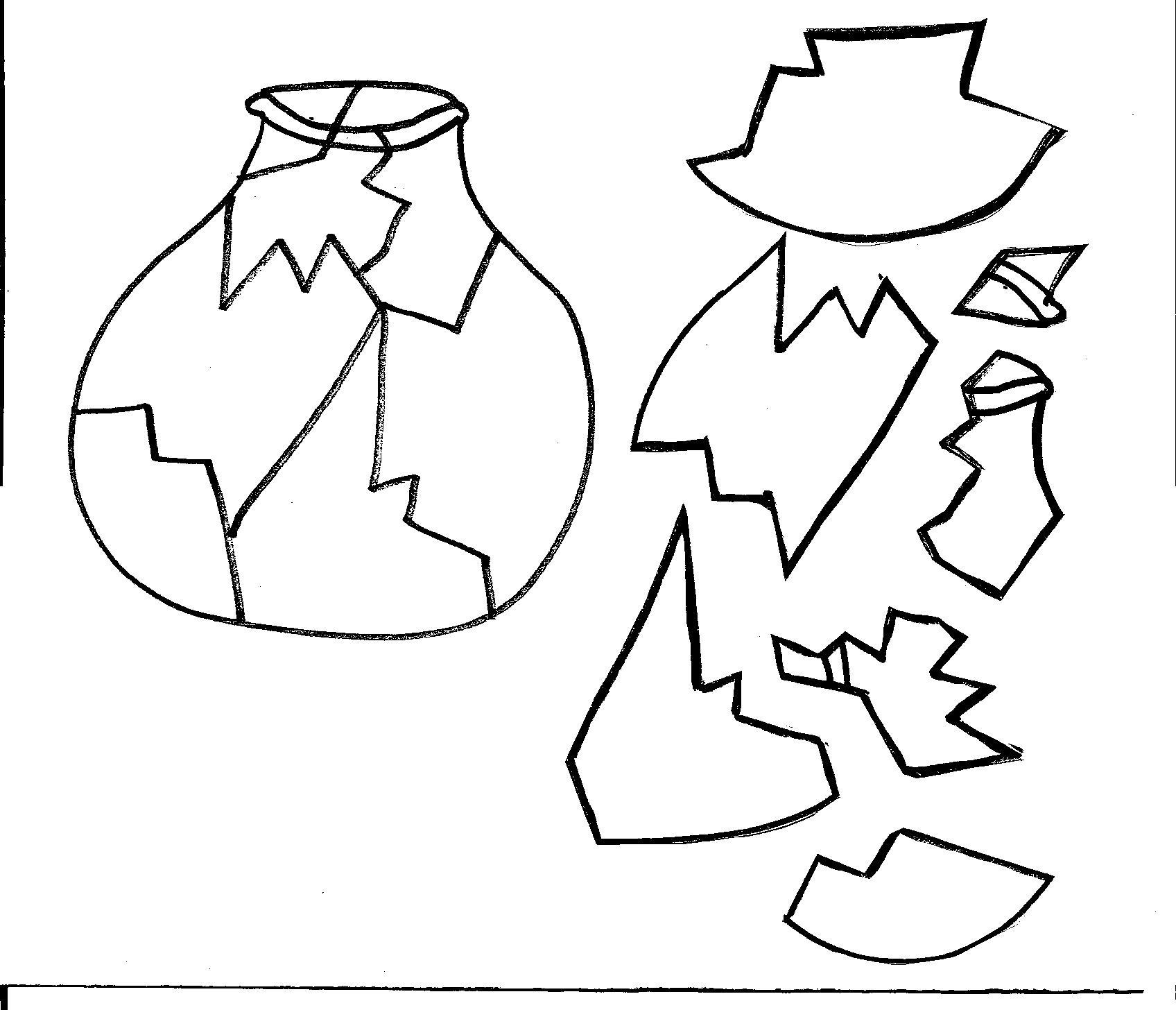 Ceramic vase clipart #3